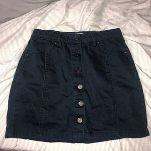 dark navy jean skirt